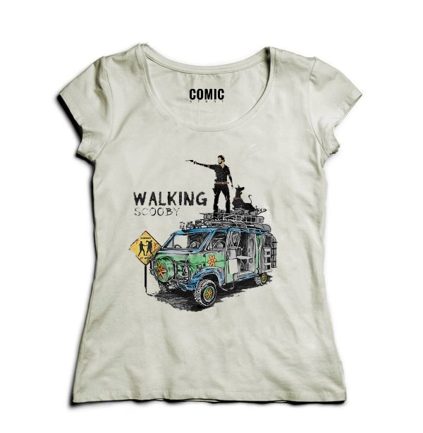 Camiseta Feminina The Walking Scooby - Nerd e Geek - Presentes Criativos