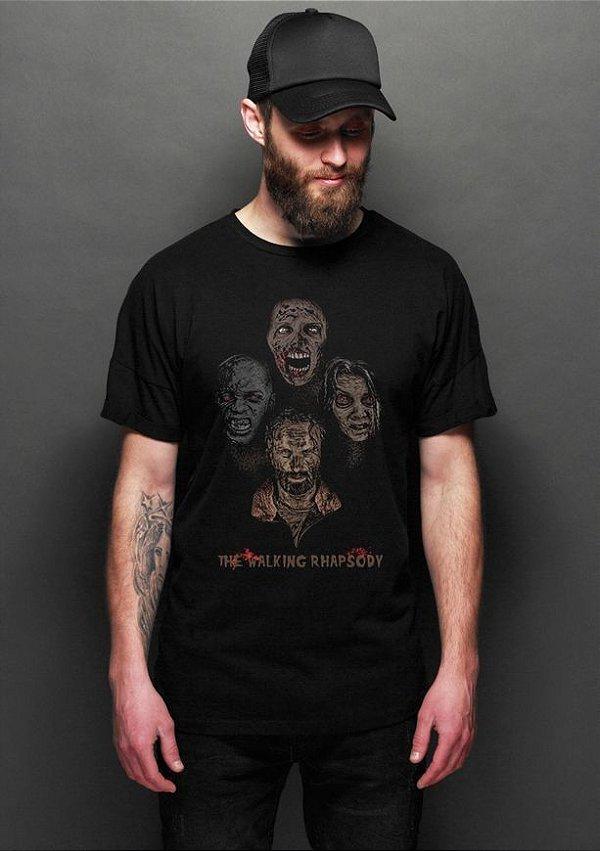 Camiseta Masculina  The Walking Rhapsody - Nerd e Geek - Presentes Criativos