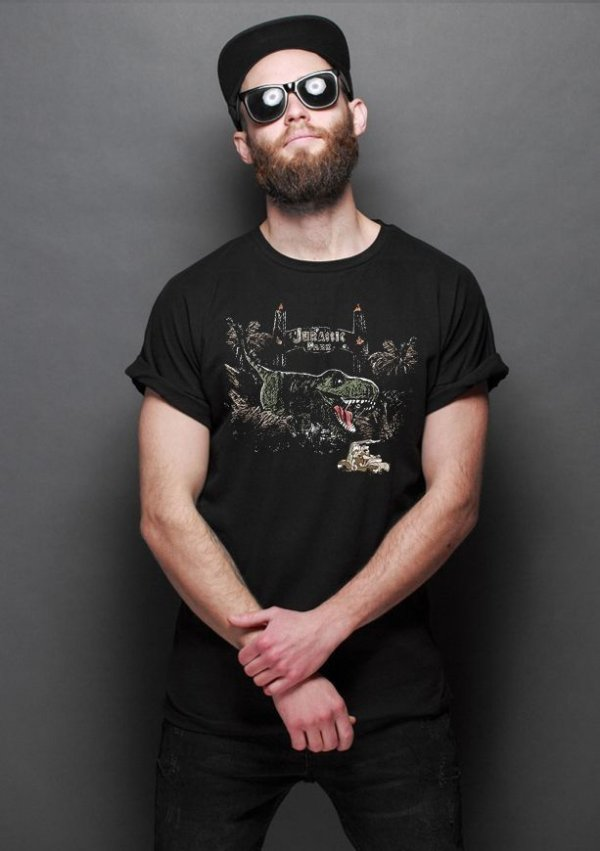 Camiseta Masculina  Jurassic Park - Nerd e Geek - Presentes Criativos