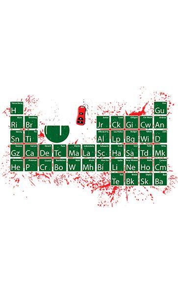 Camiseta  Tabela Heisenberg