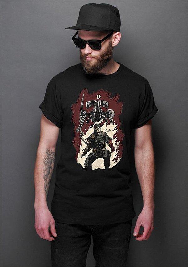 Camiseta Masculina  Gear - Nerd e Geek - Presentes Criativos