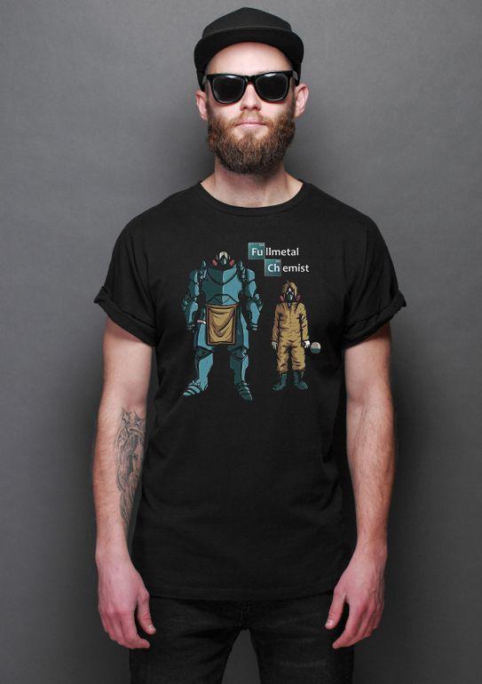 Camiseta Masculina  Fullmetal alchemist - Nerd e Geek - Presentes Criativos
