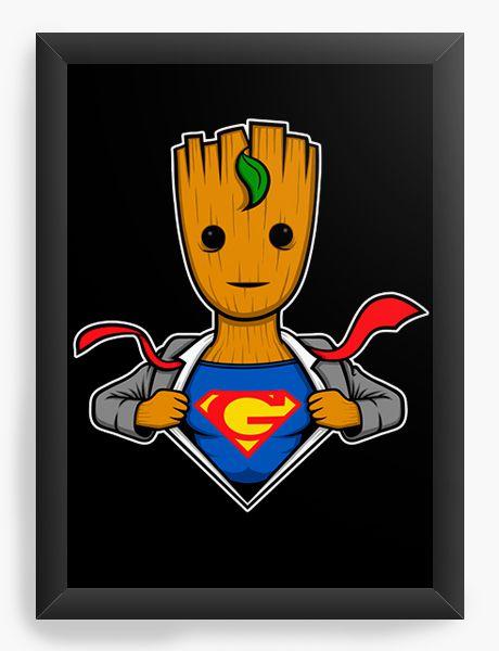 Quadro Decorativo Guardians of the galaxy - Groot Super Men