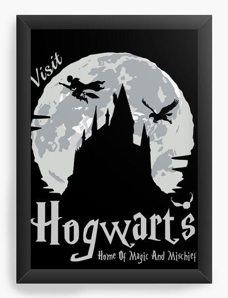 Quadro Decorativo Harry Potter - Howgarts