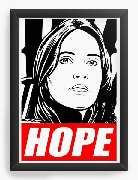Quadro Decorativo Hope - Star Wars
