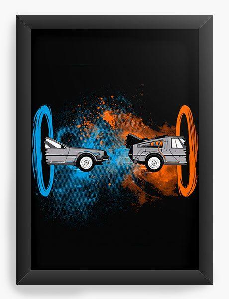 Quadro Decorativo A4 (33X24) De volta para o Futuro - Nerd e Geek - Presentes Criativos