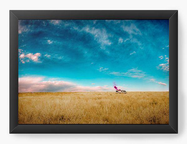 Quadro Decorativo A4 (33X24) Heisenberg - sky - Nerd e Geek - Presentes Criativos