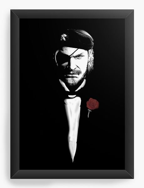 Quadro Decorativo A4 (33X24) Metal Gear Solid - Nerd e Geek - Presentes Criativos