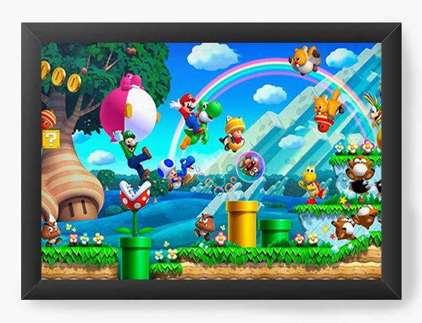 Quadro Decorativo Super Mario - Word