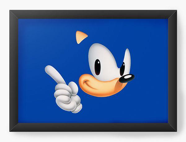 Quadro Decorativo Sonic - Nerd e Geek - Presentes Criativos