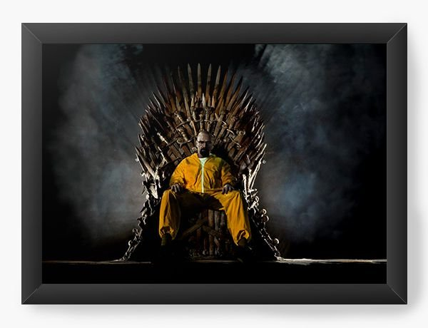 Quadro Decorativo Breaking Bad - Trono - Nerd e Geek - Presentes Criativos