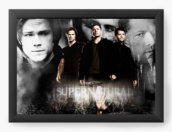 Quadro Decorativo Supernatural - Dean e Sam