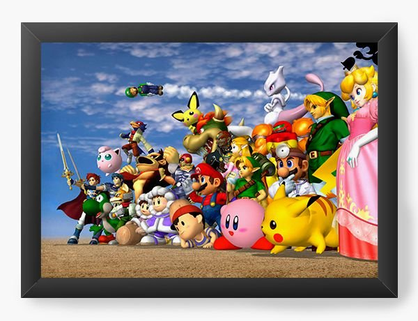Quadro Decorativo Super Mario Diversos