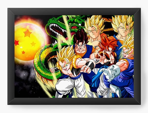 Quadro Decorativo Dragon Ball Z - Nerd e Geek - Presentes Criativos