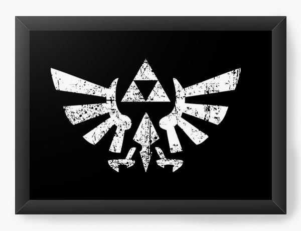 Quadro Decorativo The Legend of Zelda Triforce