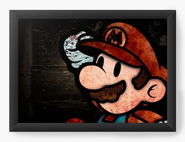 Quadro Decorativo Super Mario - Game