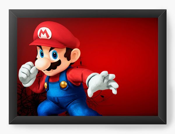Quadro Decorativo Super Mario