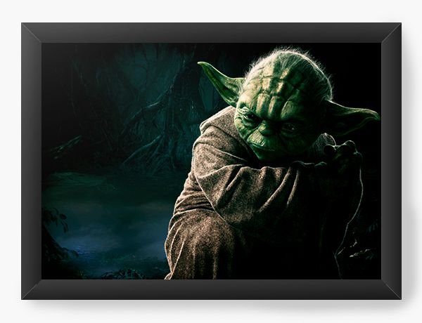 Quadro Decorativo Star Wars - Yoda