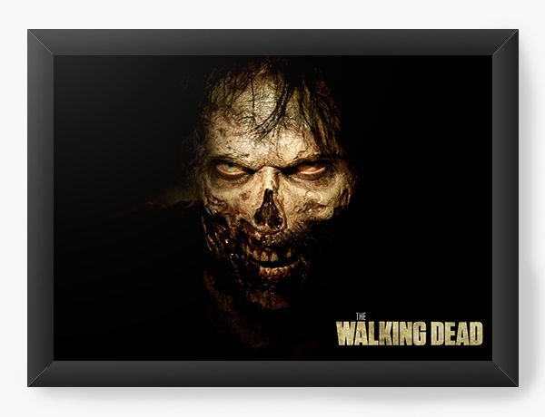 Quadro Decorativo The Walking Dead - Zombie - Nerd e Geek - Presentes Criativos