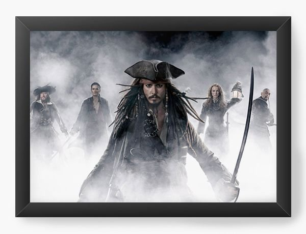 Quadro Decorativo Piratas do Caribe - Nerd e Geek - Presentes Criativos