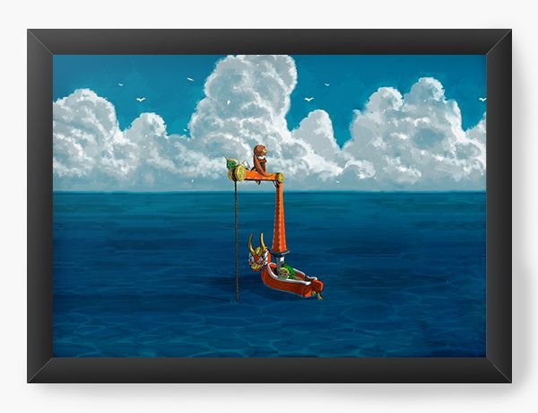 Quadro Decorativo The Legend of Zelda In the ocean