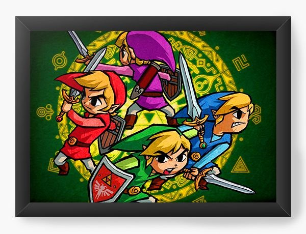Quadro Decorativo The Legend of Zelda in Draw