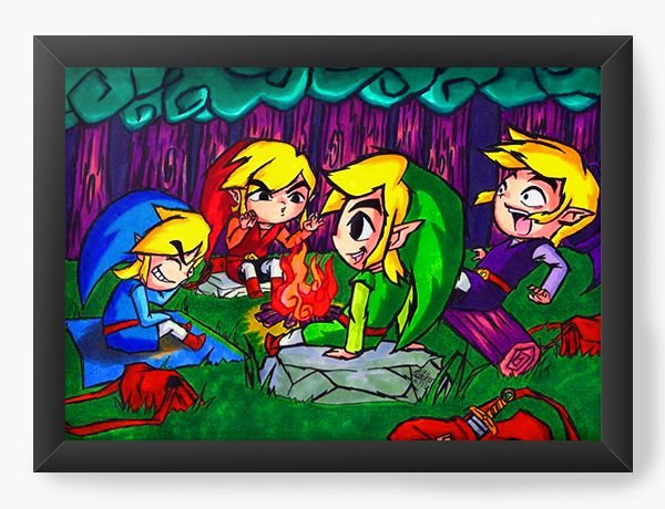 Quadro Decorativo The Legend of Zelda Funny Drawing Version
