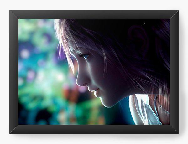 Quadro Decorativo A4 (33X24) Final Fantasy - Game - Nerd e Geek - Presentes Criativos