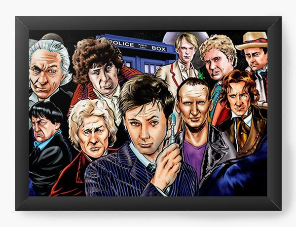 Quadro Decorativo Doctor Who - Serie - Nerd e Geek - Presentes Criativos