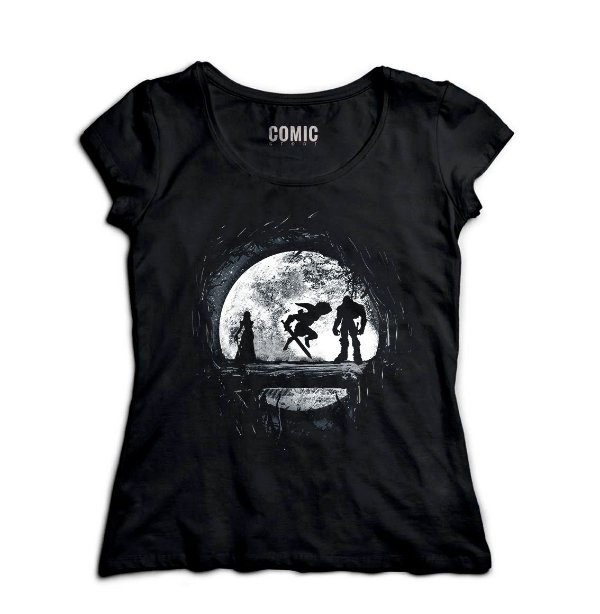 Camiseta Feminina Zelda, Ganon e Link - Hakuna matata - Nerd e Geek - Presentes Criativos