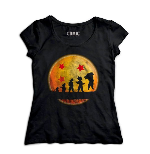 Camiseta Feminina Dragon Ball Evolution - Hakuna Matata - Nerd e Geek - Presentes Criativos