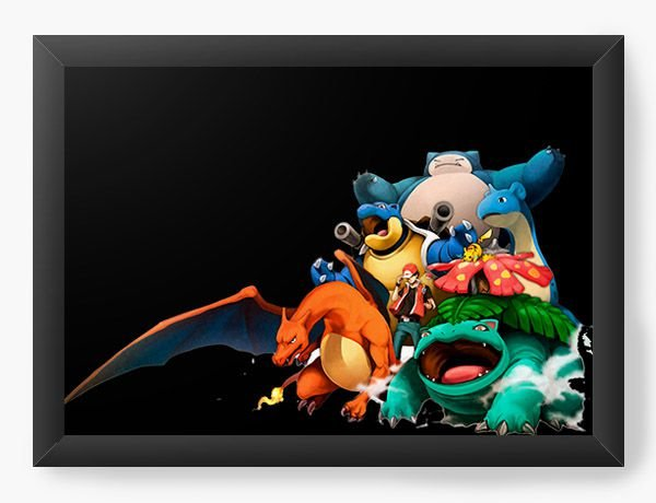Quadro Decorativo A4 (33X24) Pokemon - Serie - Nerd e Geek - Presentes Criativos