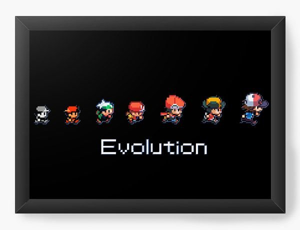 Quadro Decorativo Evolutin - Game - Nerd e Geek - Presentes Criativos