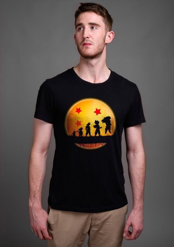 Camiseta Masculina  Dragon Ball Evolution - Nerd e Geek - Presentes Criativos
