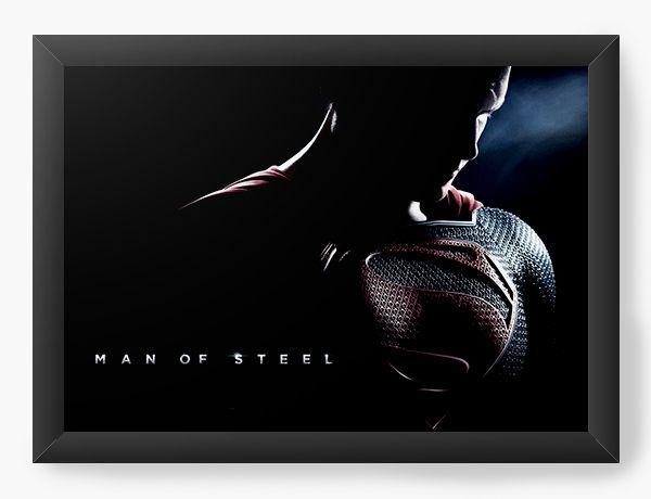 Quadro Decorativo Super Men - Off Steel
