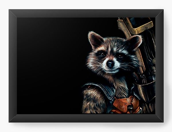 Quadro Decorativo Guardians of the Galaxy - Rocket Raccoon
