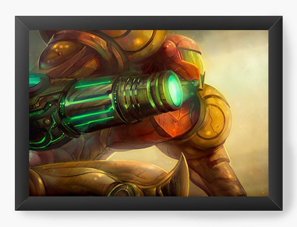 Quadro Decorativo A4 (33X24) Samus Aran - Nerd e Geek - Presentes Criativos