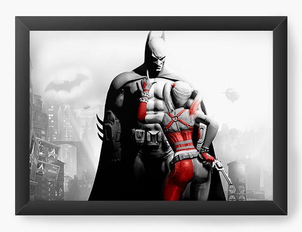 Quadro Decorativo Batman e Arquelina