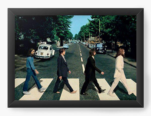Quadro Decorativo The Beatles - Nerd e Geek - Presentes Criativos