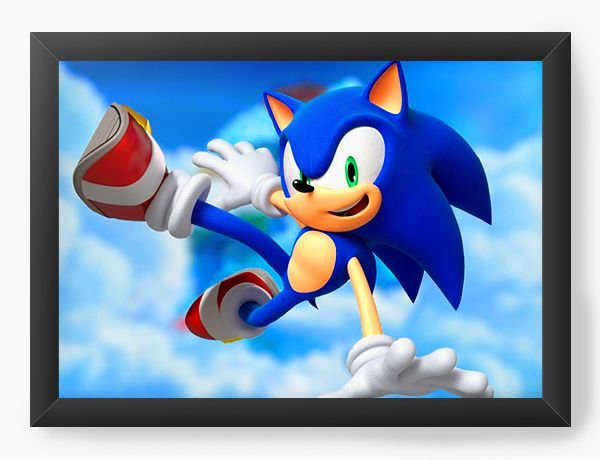 Quadro Decorativo Sonic X - Nerd e Geek - Presentes Criativos