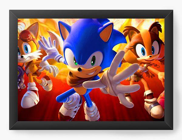Quadro Decorativo The Sonic - Nerd e Geek - Presentes Criativos