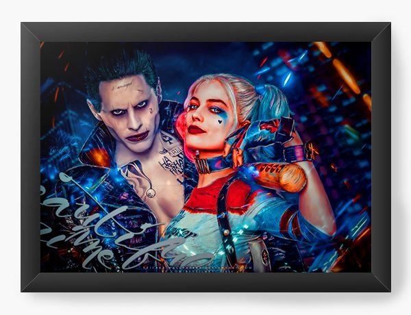 Quadro Decorativo Joker and Harley Quinn