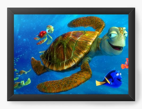 Quadro Decorativo Procurando Nemo Tartaruga Crush