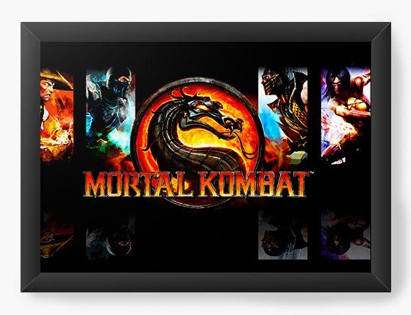 Quadro Decorativo Mortal Kombat - Nerd e Geek - Presentes Criativos