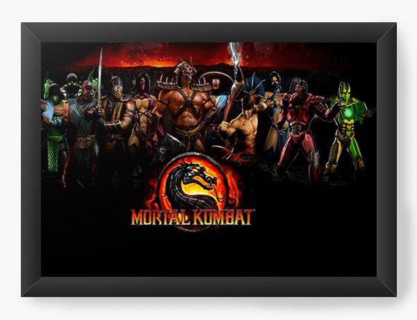 Quadro Decorativo Mortal Kombat - Game - Nerd e Geek - Presentes Criativos