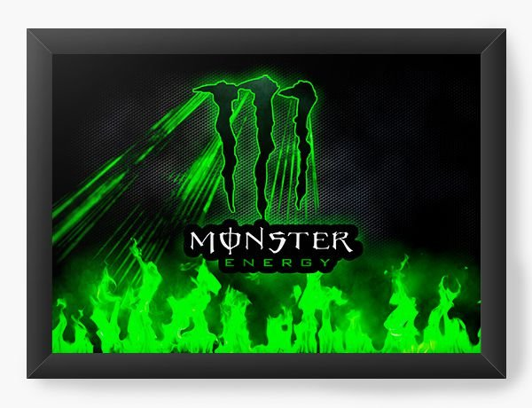 Quadro Decorativo A4 (33X24) Monster Energy - Nerd e Geek - Presentes Criativos