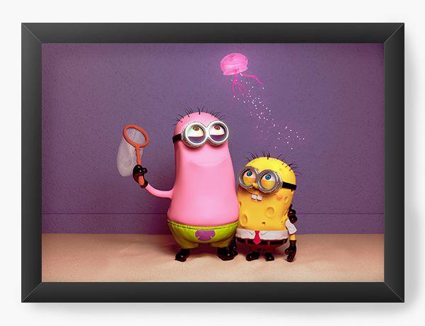 Quadro Decorativo Minions - Bob e Patrick