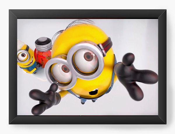 Quadro Decorativo A4 (33X24) Minions - Nerd e Geek - Presentes Criativos