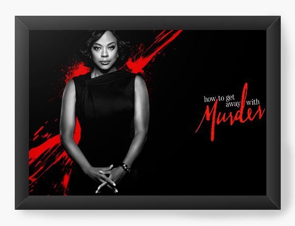 Quadro Decorativo How to get away with a murder - Nerd e Geek - Presentes Criativos