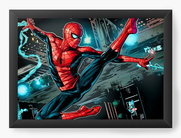 Quadro Decorativo Spiderman blow